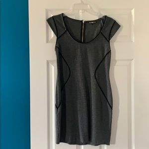 Fitted grey express dress